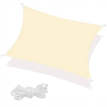 Тент-парус тіньової для дому, саду та туризму Springos 4 x 3 м SN1032 Light Yellow