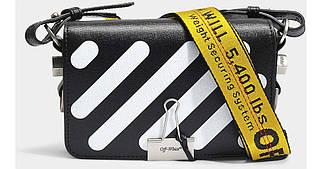 Сумка-клатч Off-White Diag MiniI Flap Bag люкс копия Черная