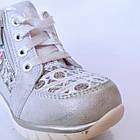 Ботинки девочкам, р. 24, 25, 26, 28. Демисезонные утепленные серебристые осенние ботиночки малышкам., фото 6
