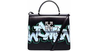 Сумка Off-White Jitney Bag 2.8 Graffiti люкс копия Черная