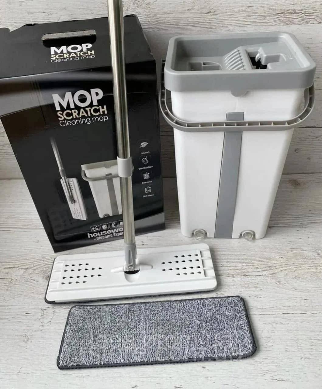 Відро з віджимом і шваброю Scratch Cleaning Mop (35х17х19 см)