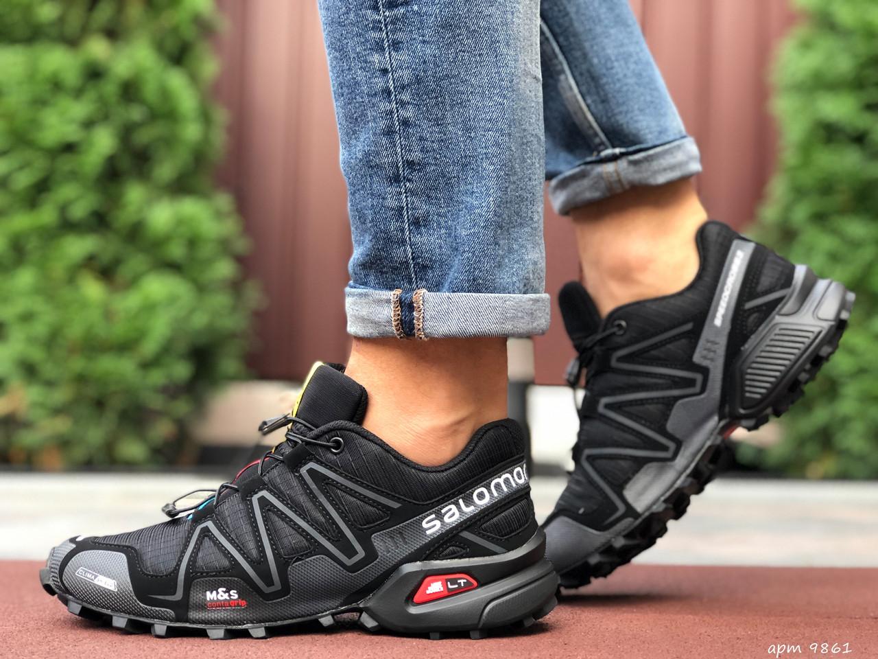 Кросівки чоловічі для бігу і залу Salomon Speedcross 3,чорні