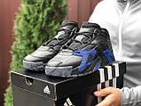 Мужские осенние кроссовки Adidas Streetball черные с синим, фото 2