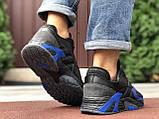 Мужские осенние кроссовки Adidas Streetball черные с синим, фото 3