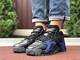 Мужские осенние кроссовки Adidas Streetball черные с синим, фото 4