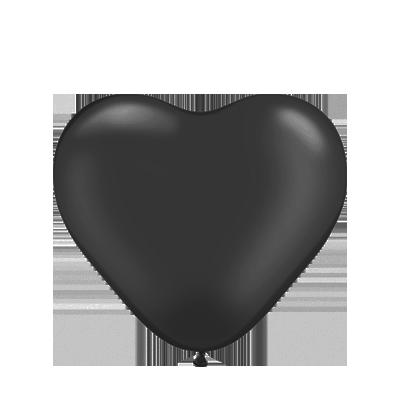 """KL-12"""" Сердце черное (black). Воздушные шары латексные сердца 100 шт"""