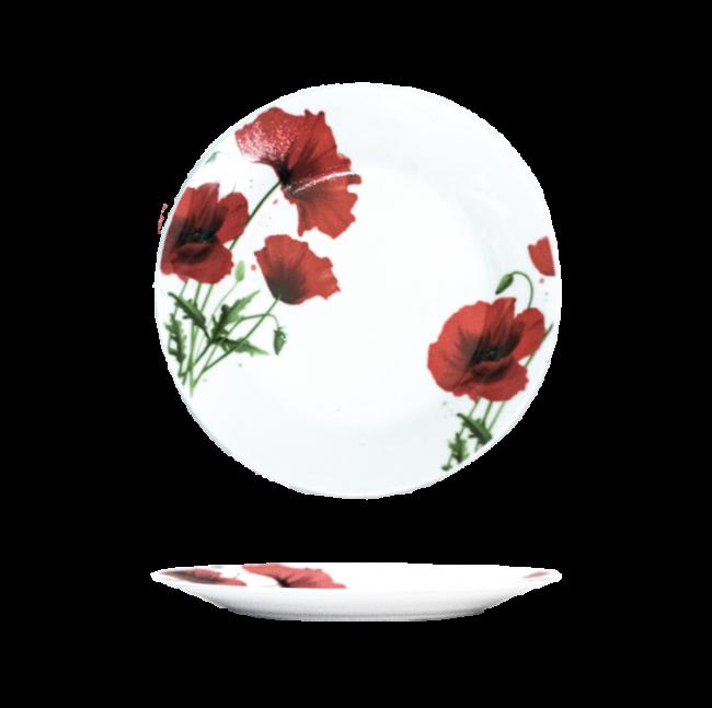Тарелка фарфоровая мелкая Мак 190мм