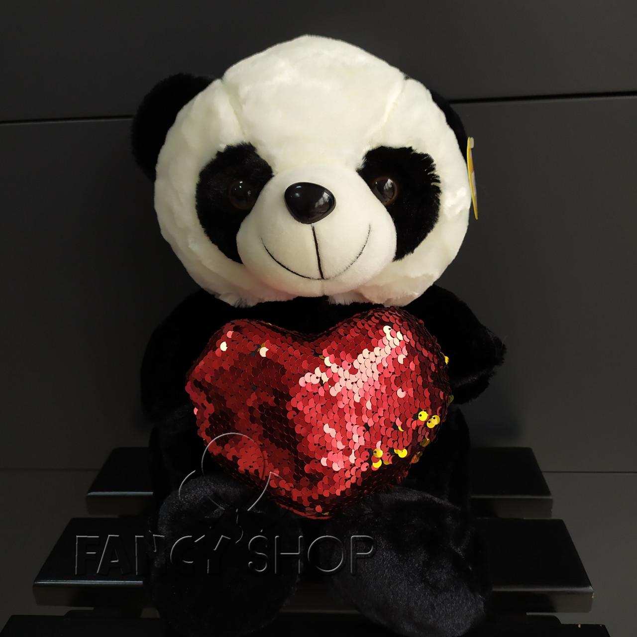 "Іграшка мяка ""Ведмедик Панда з сердечком"", Мягкая игрушка ""Мишка Панда с сердцем"""