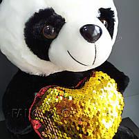 """Іграшка мяка """"Ведмедик Панда з сердечком"""", Мягкая игрушка """"Мишка Панда с сердцем"""", фото 3"""