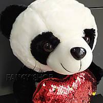 """Іграшка мяка """"Ведмедик Панда з сердечком"""", Мягкая игрушка """"Мишка Панда с сердцем"""", фото 2"""