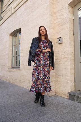 Приятное к телу трикотажное платье, фото 2
