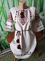 Плаття для дівчинки габардин ручна вишивка зростання 158см 012