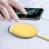 Беспроводное зарядное устройство Baseus Jelly Qi 15W для наушников и телефона + кабель USB (WXGD-0Y), фото 1