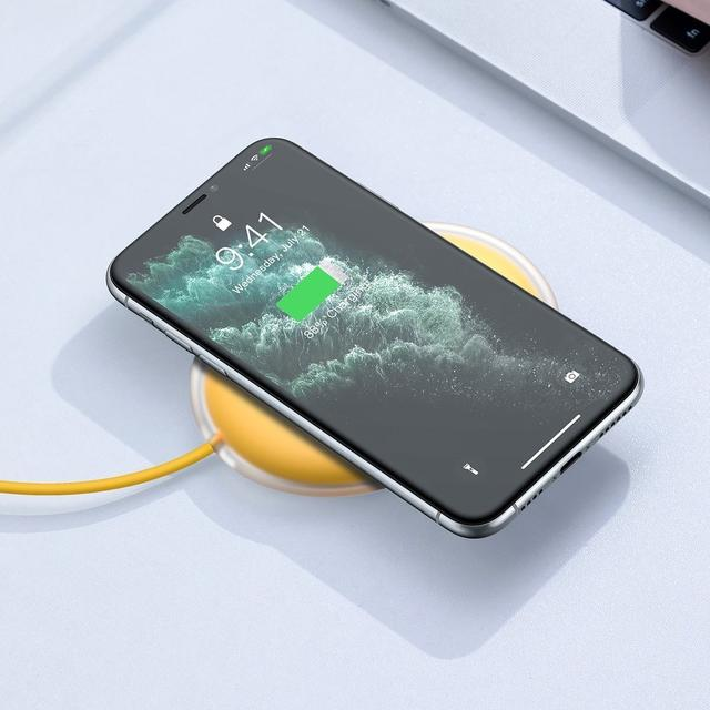 Беспроводное зарядное устройство Baseus Jelly Qi 15W для наушников и телефона + кабель USB (WXGD-0Y)