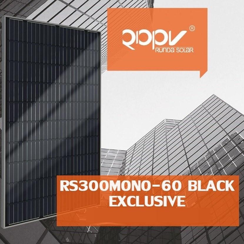 Солнечная батарея панель Runda RS300M6-60 Mono Black Half Cell 300 ВТ фотоэлектрический модуль