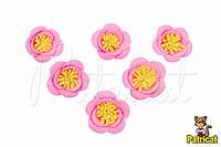 Цветы Розы Розовые из фоамирана (латекса) 3 см 10 шт/уп, фото 1