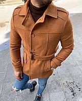 Пальто мужское коричневое ZP5