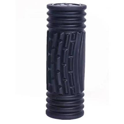 Массажный ролик для йоги Yoga Pillar Черный, фото 2