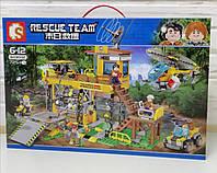 Конструктор Rescue Time База исследователей джунглей Спасатели Sembo Block 725 деталей 603032