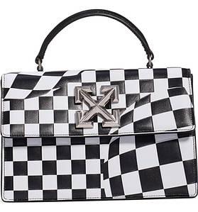 Сумка Off-White Jitney Bag 2.8 люкс копия Черно-белая