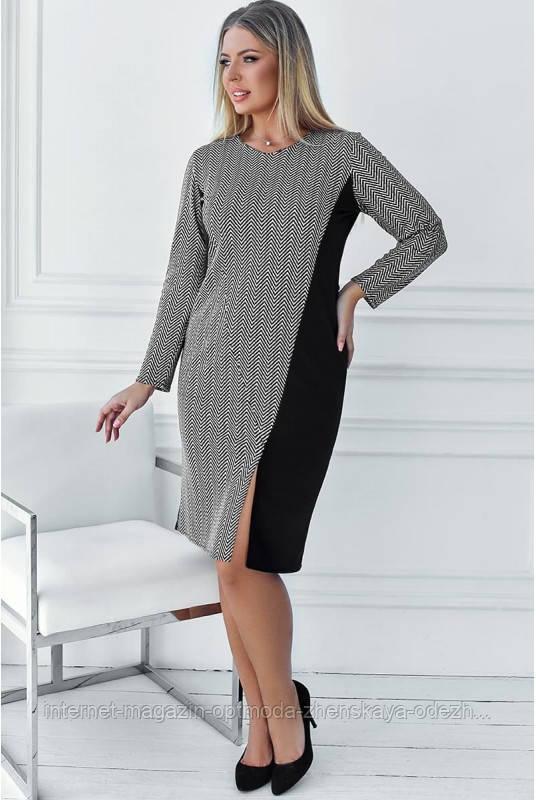 """Модна стильна сукня комбіноване великих розмірів """"Marion"""""""