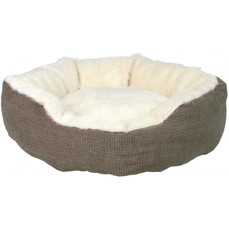 Лежак для кошки TRIXIE - Yuma, коричневый-белый, 45см