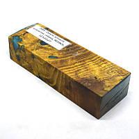 Стабилизированная древесина брусок Сувель ясеня со шпальтом, гибрид, RESINOL, 127x41x27, фото 1