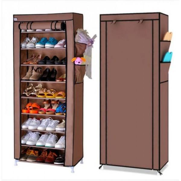 Органайзер для хранения обуви Compages Shoes Shelf T-1099 на 9 секций Коричневый