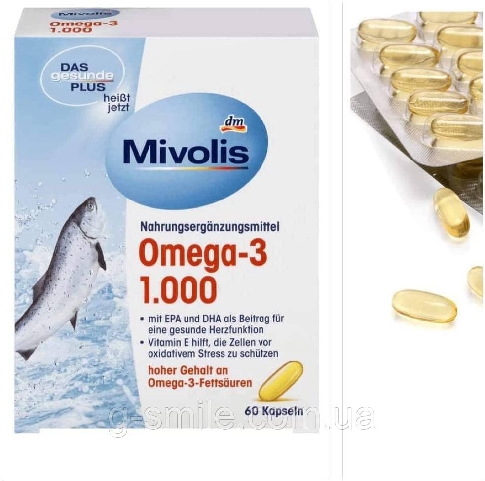Mivolis DAS gesunde PLUS Omega-3 1000 mg Kapseln, 60 St