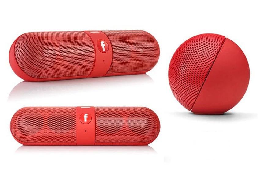 Беспроводная Bluetooth колонка DANWAN S910 LED аккумулятор 1200mAh с FM радио капсула Красный