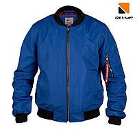 Бомбер мужской синего цвета от Olymp, куртка бомбер цвета электрик на подростка.