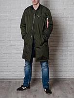 Бомбер длинный мужской от Olymp - Color: Khaki