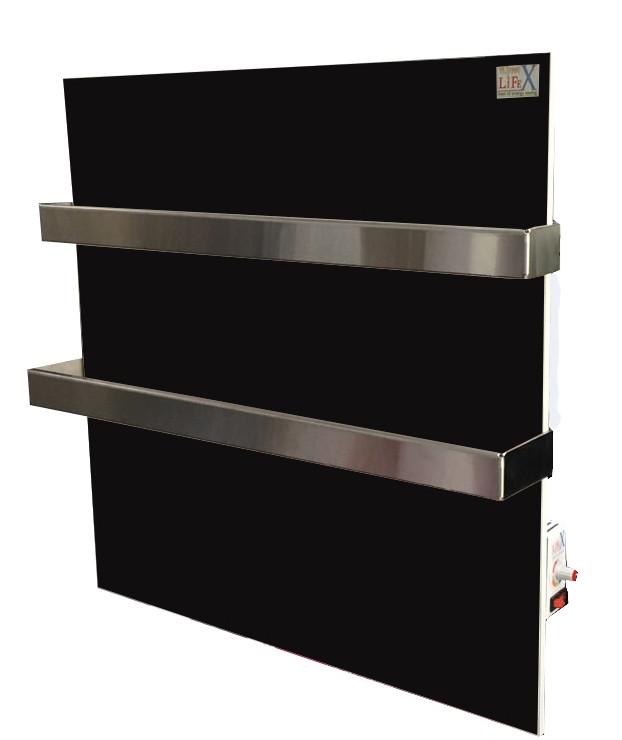 Керамический полотенцесушитель с терморегулятором LIFEX ПСК400 Duo (черный)