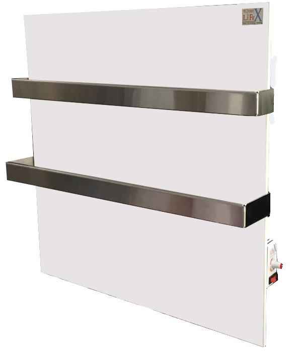 Керамический полотенцесушитель с терморегулятором LIFEX ПСК400R Duo (белый)