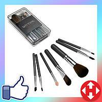 Базовые кисти (кисточки) для макияжа (7 кистей в пластиковом сером кейсе) набор, фото 1