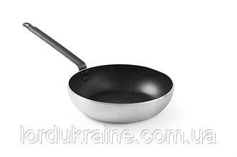 Сковорода Вок алюмінієва з мармуровим антипригарним покриттям «Marble Professional», Ø320x(H)100 мм Hendi