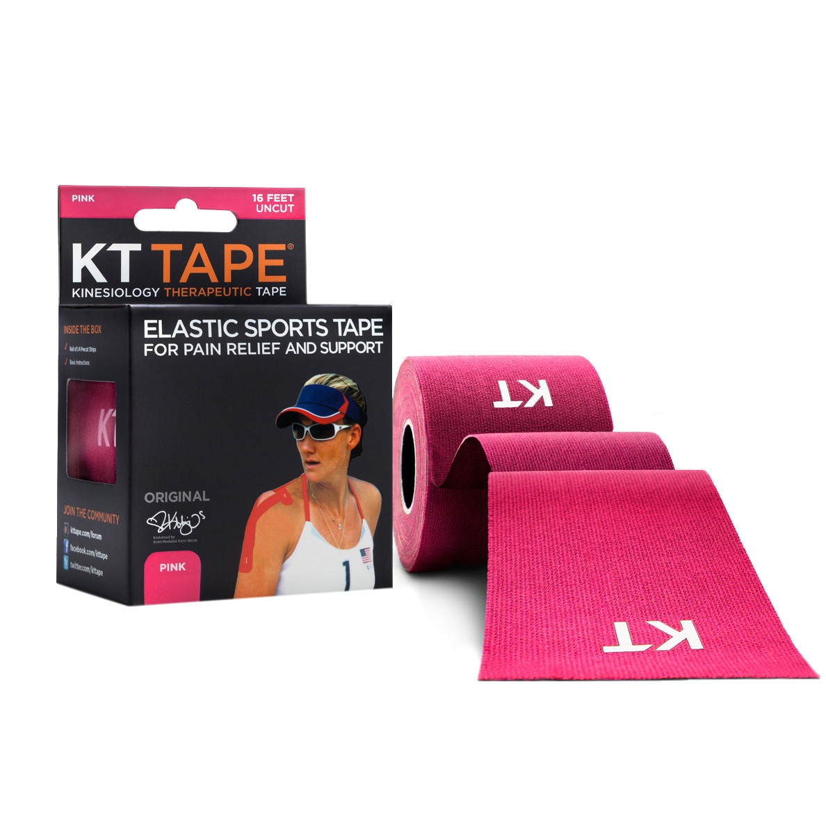 Кинезио тейп Kt Tape Original Cotton Uncut 5см х 5м (Розовый)