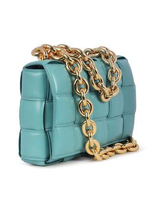 Сумка-клатч Bottega Veneta The Chain Cassette люкс копия Пастельно-голубая, фото 2