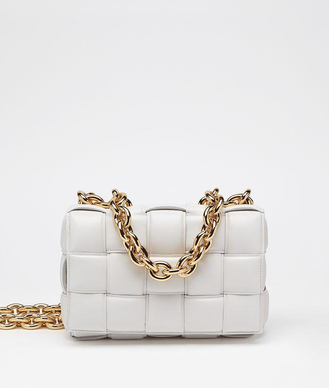Сумка-клатч Bottega Veneta The Chain Cassette люкс копия Белая