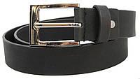 Мужской кожаный ремень для брюк Livergy черный