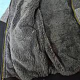 Модная и теплая толстовка для мальчика с капюшоном и карманами., фото 2