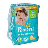 Підгузники Pampers Active Baby-Dry Розмір 4+ (Maxi+) 9-16 кг, 45 підгузників (4015400735724)