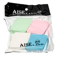 Спонжи для нанесения макияжа Aise line AL-005 (набор 4шт.), фото 1