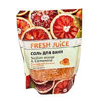 Coль для ванн Fresh Juice дой-пак 500г sicilian orange&clementine
