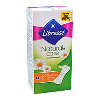 Щоденні гігієнічні прокладки Libresse Natural Care Pantyliners Normal 20 шт 9881-00