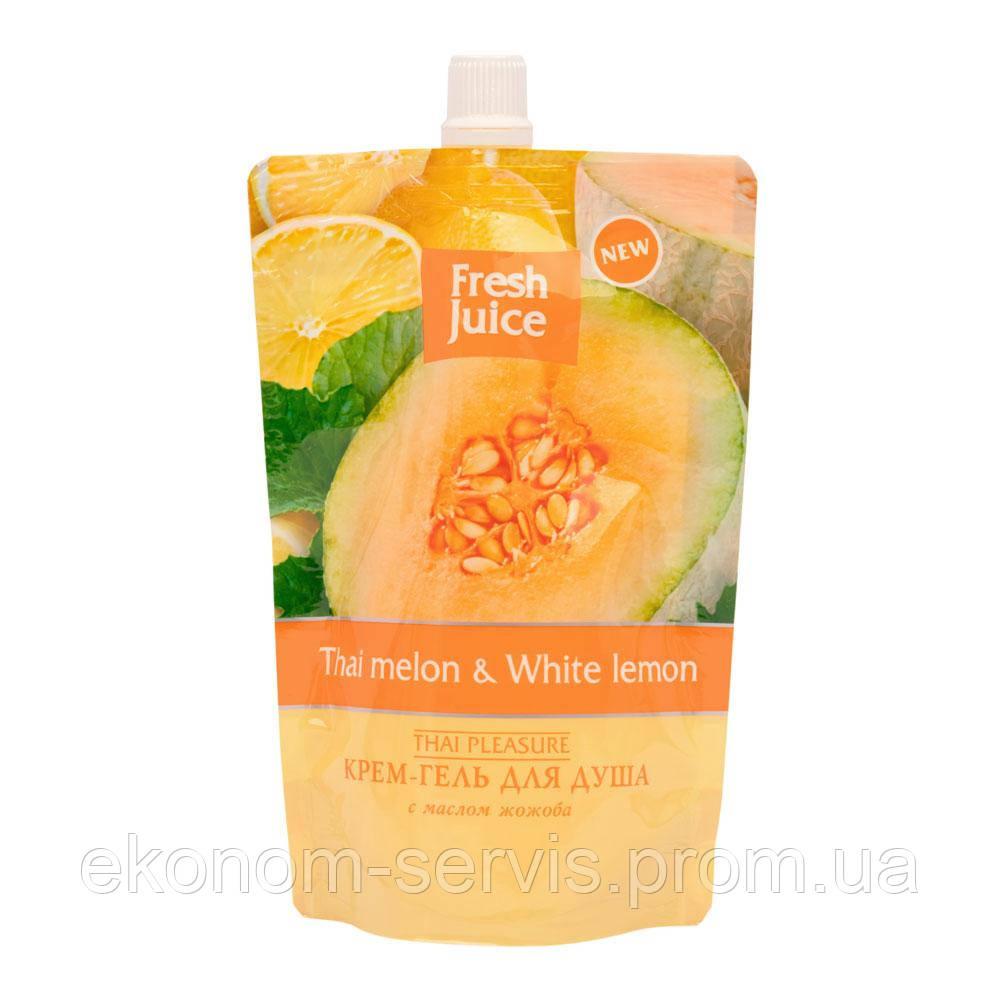 Гель-крем для душу Fresh Juice Thai Melon & White Lemon 170 мл (дой-пак)