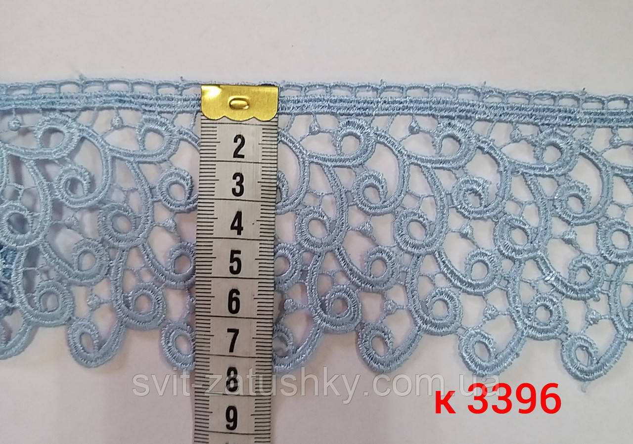 Мереживо блакитне шириною 7 см  /Кружево плотное голубое ширина 7 см