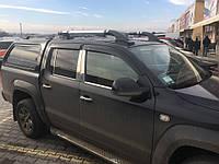 Рейлінги Volkswagen Amarok Shark Хром (з поперечками)