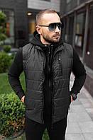 Мужская жилетка черная