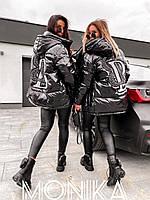 Куртка женская зимняя чёрная